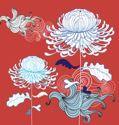 Beautiful chrysanthemum vector