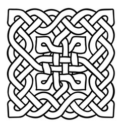 celtic black and white pattern scandinavian vector image