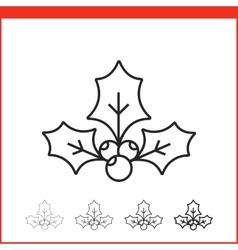 Christmas mistletoe icon vector image