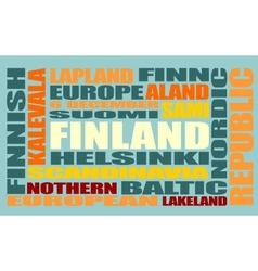 finland tags cloud vector image