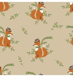 Funny foxy pattern vector image