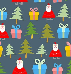 Santa Claus gift and Christmas tree Christmas vector image vector image