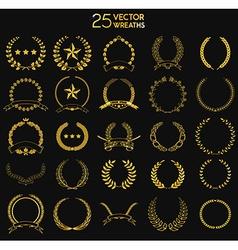 25 Wreaths vector image