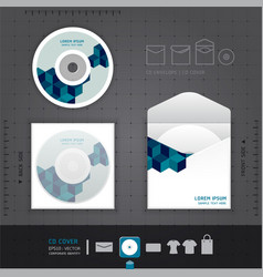 Abstract CD Design template vector image
