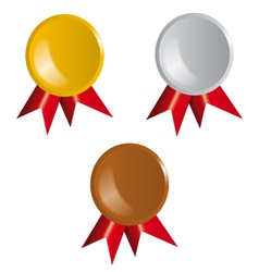 Awards Ribbons vector image vector image