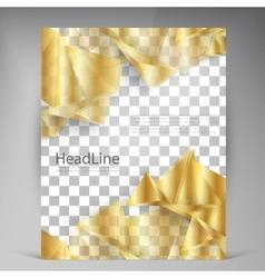 Beautiful Gold Satin Flyer vector image vector image
