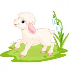 Easter lamb vector image
