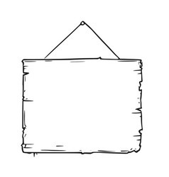 empty blank sign board drawing vector image