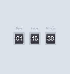 flip countdown timer clock counter for vector image vector image