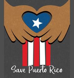 hurricane relief for puerto rico design vector image