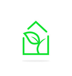 simple linear greenhouse logo vector image