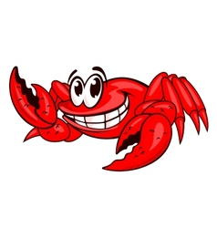 Smiling red crab vector image vector image