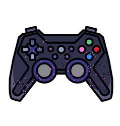 cartoon image of game icon gamepad symbol vector image vector image