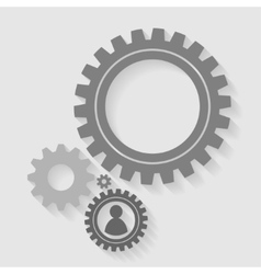 gears back vector image vector image