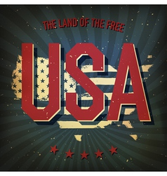 land of the free usa poster vector image