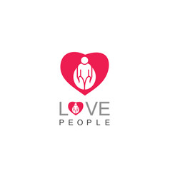 love people care logo vector image