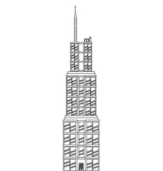 sears tower icon vector image