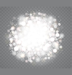 transparent glowing snow effects with sparkles vector image vector image