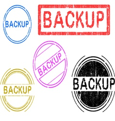 5 Grunge Stamps Backup vector