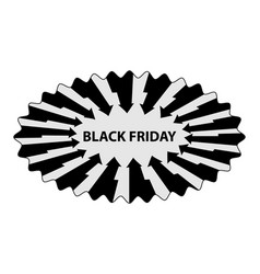 abstract - black friday - sticker vector image