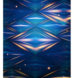 Abstract hexagon pattern Blue shiny background vector