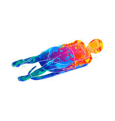 abstract luge sport winter sports from splash of vector image