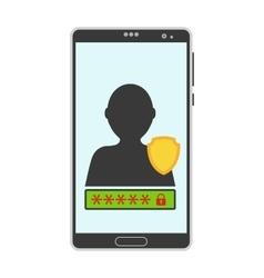 Account screen vector image