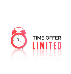 Alarm clock with special offer limited time offer vector