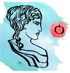 ancient Greek goddess vector image