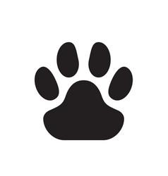 animal paw print cat dog or wild animals graphic vector image