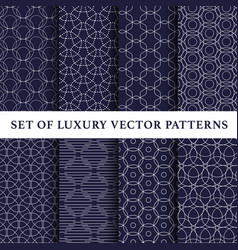 Asian luxury patterns pack vector