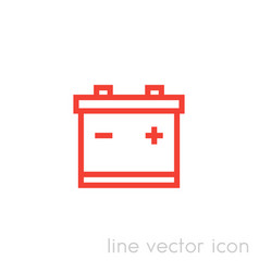 Battery icon linear pictogram vector