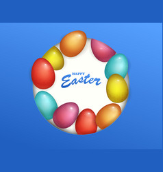 beautiful fresh background of happy easter holiday vector image