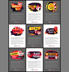 best black friday web pages with text sample vector image