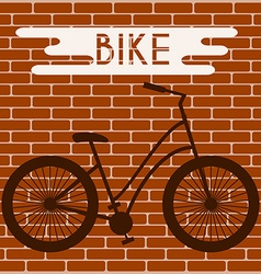 Bicycle silhouette Graffiti on Brick Wall vector
