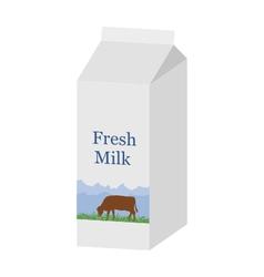Bio milk carton vector image