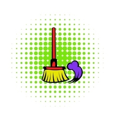 Brush for a floor icon comics style vector