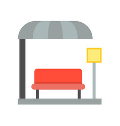 bus station bus stop icon vector image