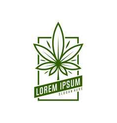 Cannabis logo marijuana labels on logos medical vector