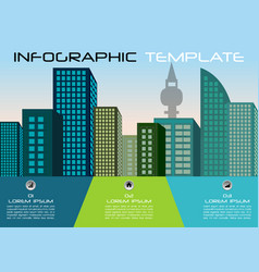 city colorful infographics options template in vector image