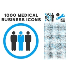 Clerk Staff Rounded Icon With Medical Bonus vector image
