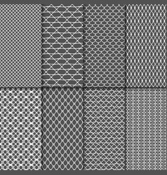 cloth seamless patterns fabric net vector image