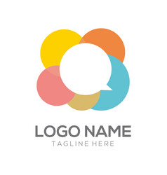 communication logo and icon design vector image