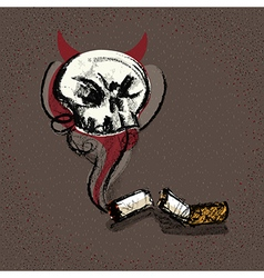 Concept Sketch Smoking Kill vector