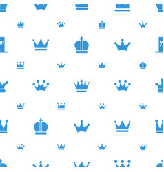 Crown icons pattern seamless white background vector