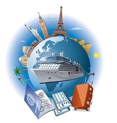 cruise ship travel vector image