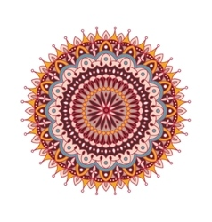 Decorative arabic round lace ornate mandala vector