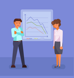 Depressed business people flat style design vector