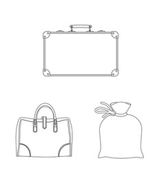 Design of suitcase and baggage icon set of vector