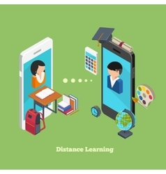 Distance online learning vector